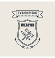 Retro vintage sword badges shields crests vector image