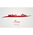Rome skyline in red vector image vector image