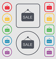Sale icon sign symbol on the Round and square vector image