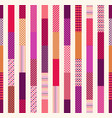 seamless colorful vertical stripes geometric patch vector image vector image