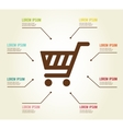 Shopping infographic template vector image vector image