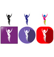 Sport icon design for floor exercise vector image vector image