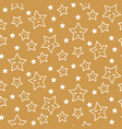 stars sleepy seamless pattern background green and vector image