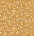 stars sleepy seamless pattern background green vector image