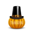 Thanksgiving Day card with pumpkin vector image vector image