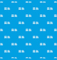 toy train pattern seamless blue vector image vector image