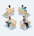 trendy people isometric 3d teenager vector image vector image