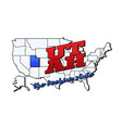 utah state with us state on american vector image vector image