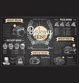 Vintage chalk drawing bakery menu design