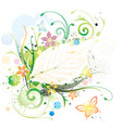 water color floral vector image vector image