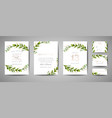 wedding save the date invitation floral cards vector image vector image