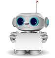 White robot with a white background vector image vector image