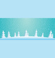 winter landscape with fir trees vector image