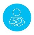 Woman nursing baby line icon vector image