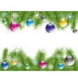 xmas tree branches with decoration vector image vector image