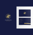 z monogram luxury logotype with business card vector image vector image