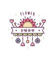 flower shop logo vector image