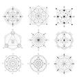 Geometry Symbols Black Thin Line Set vector image