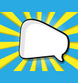 abstract blank speech bubble comic book vector image vector image