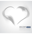 Abstract gray wavy background-heart from smoke vector image vector image