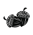 acorn icon black vector image