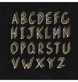 alphabet on blackboard texture vector image vector image