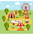 Amusement park infographic elements vector image vector image