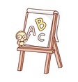 An easel stand on vector image vector image