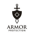 armor protection logo design inspiration vector image vector image