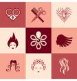 barbershop logo icons vector image vector image