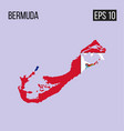 bermuda map border with flag eps10 vector image