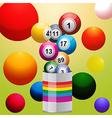 Bingo balls from paint tin vector image vector image