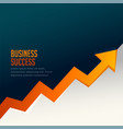 business success growth arrow with upward arrow vector image vector image
