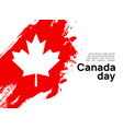 canada flag day maple leaf day design background vector image