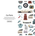 car parts background with text vector image vector image