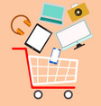 cart color device vector image vector image