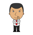 cartoon businessman thinking vector image vector image