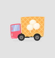 cartoon delivery ice cream truck vector image vector image