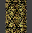 chinese geometry seamless pattern oriental black vector image