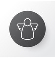 christmas angel icon symbol premium quality vector image