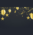 christmas luxury black background with golden vector image vector image