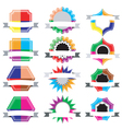 Collection Set of retro vintage badges vector image vector image