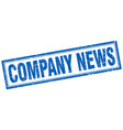 company news square stamp vector image vector image