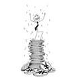 conceptual cartoon of businessman enjoying on vector image
