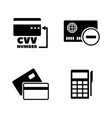 credit card simple related icons vector image