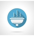 Cupped fountain round flat icon vector image vector image