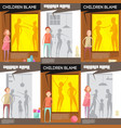 domestic altercation posters set vector image