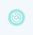doughnut icon sign symbol vector image vector image