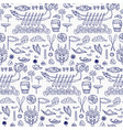 dragon boat festival doodle seamless pattern vector image vector image