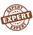 expert brown grunge round vintage rubber stamp vector image vector image